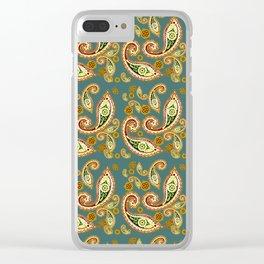 Oriental pattern blue Clear iPhone Case