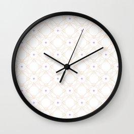 Purple & Beige Pattern Wall Clock