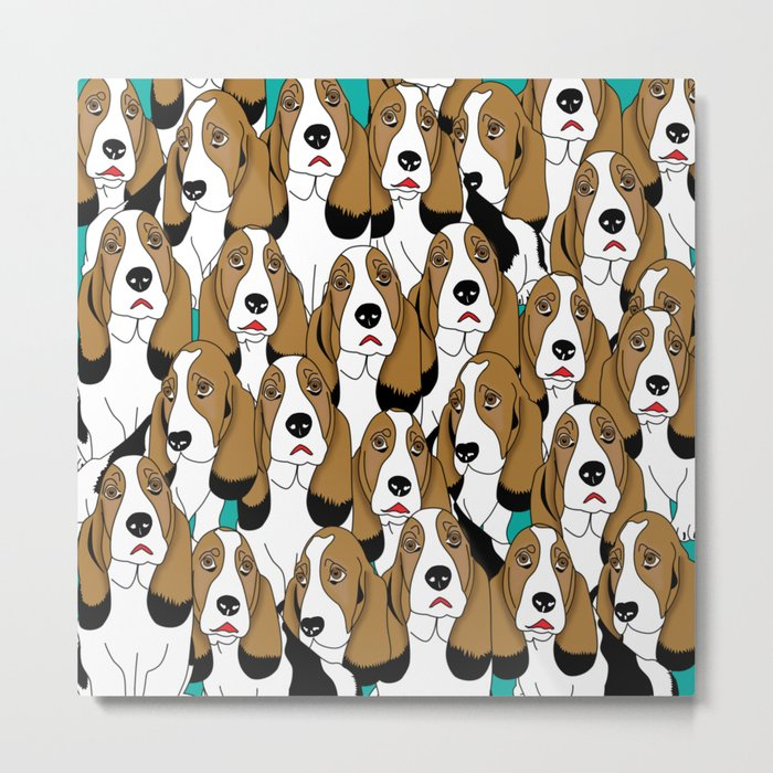 cute dogs Metal Print