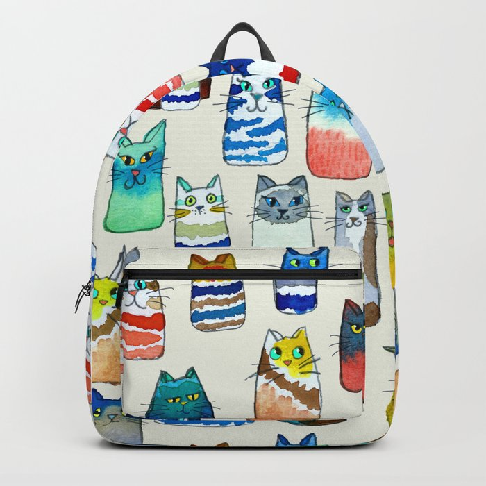 Lots of Watercolor Kitty Cats Backpack