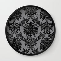damask Wall Clocks featuring DAMASK by pike design
