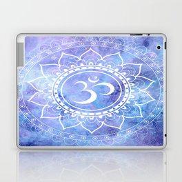 Om Mandala Lavender Periwinkle Blue Galaxy Space Laptop & iPad Skin