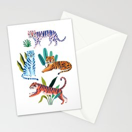 Asian Tigers Stationery Cards