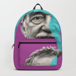 Gabriel Garcia Marquez - purple blue portrait Backpack