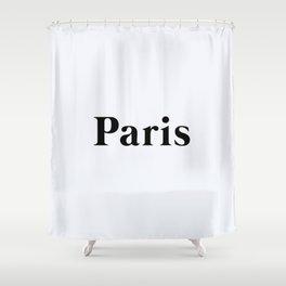 64. Paris Shower Curtain