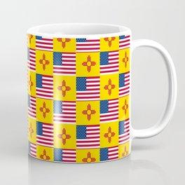 Mix of flag: USA and new mexico Coffee Mug