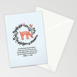 Deer & Birds Stationery Cards