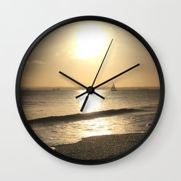 Sail to the sun and back Wall Clock