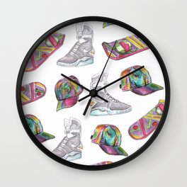 watercolor back to the future 2 Wall Clock