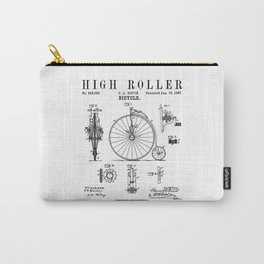 Bicycle High Roller Old Vintage Patent Drawing Print Carry-All Pouch