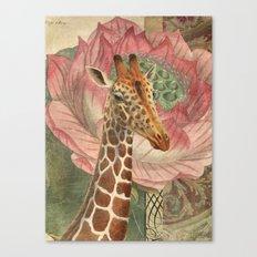 One Chuffed Giraffe Canvas Print