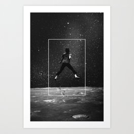 Over the Moon Art Print