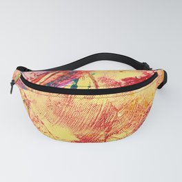 Goldfinch Abstract Painting Fanny Pack