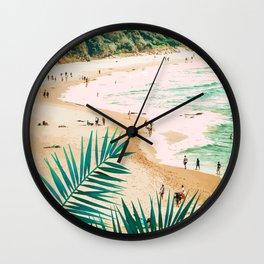 Beach Weekend #digitalart #nature Wall Clock