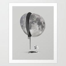 Bleeding Moon Art Print