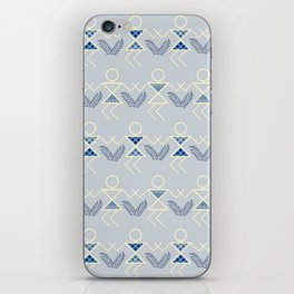 Blues Warli Print iPhone Skin