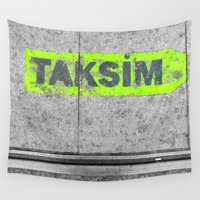 istanbul Wall Tapestries featuring ISTANBUL STREET by habish