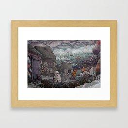 Home for the Harbor Framed Art Print
