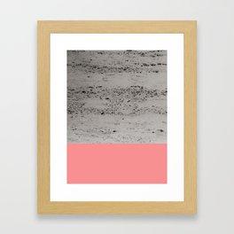 Light Coral on Concrete #2 #decor #art #society6 Framed Art Print