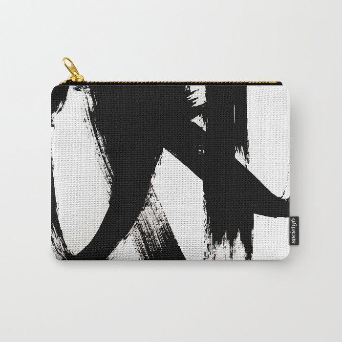 Brushstroke 2 - simple black and white Tasche
