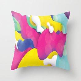 Artistic Paint Splatter Throw Pillow