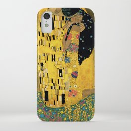 Curly version of The Kiss by Klimt iPhone Case