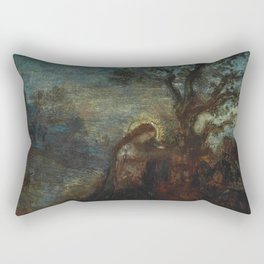 """Gustave Moreau """"Christ in the Garden of Olives"""" Rectangular Pillow"""