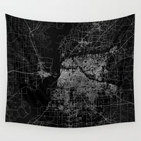 memphis Wall Tapestries featuring Memphis map by Line Line Lines