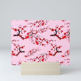 Sakura tree,cherry blossom pattern  Mini Art Print