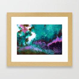 """The Crystal Forest"" (Pink/Teal) Digital Painting // Fine Art Print Framed Art Print"