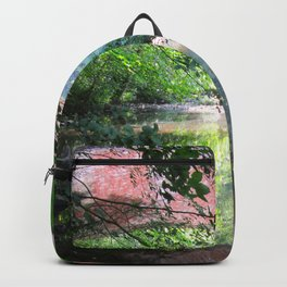 Old Bridge Water Reflection Backpack