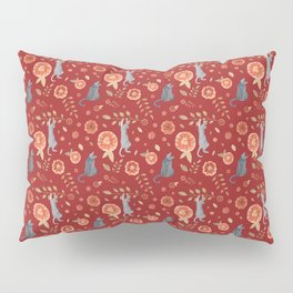 IT'S A CATS' WORLD! Burgundy Red Palette Pillow Sham