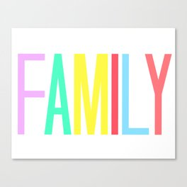 FAMILY bright colors 8x10 Canvas Print