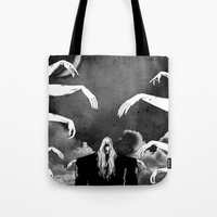 witchcraft Tote Bags featuring Witchcraft by Merwizaur