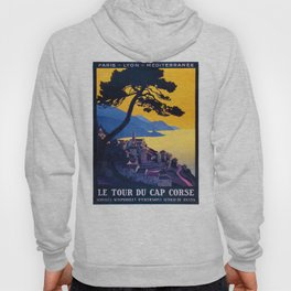 Le Tour Du Cap Corse, French Travel Poster Hoody
