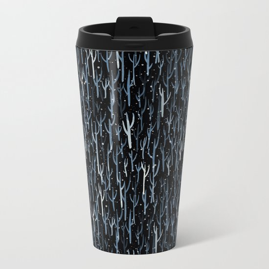 Stopping By Woods on a Snowy Evening Metal Travel Mug