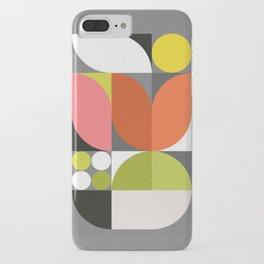 Mid Modern Geometric Bloom iPhone Case