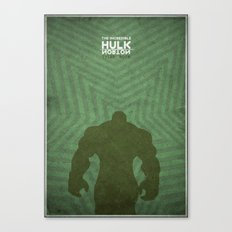 the incredible hulk - minimal poster Canvas Print