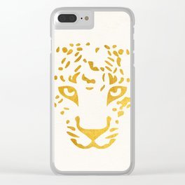 LEO FACE Clear iPhone Case