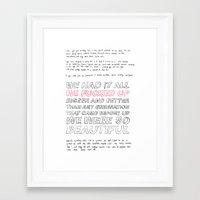 misfits Framed Art Prints featuring misfits by Angela Schroder