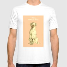 Labradorable SMALL White Mens Fitted Tee