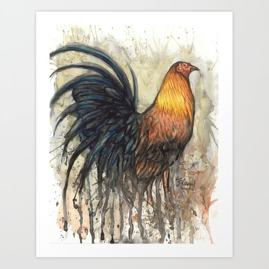 Rooster Art Print