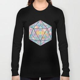 Geometric Icosahedron Watercolor Long Sleeve T-shirt