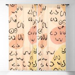 Mid Century Boobies Pattern Blackout Curtain