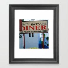 #JIMMY`S DINER  - USA by Jay Hops Framed Art Print