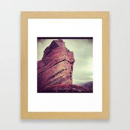 red rocks2 Framed Art Print