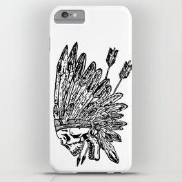 Indian chief skull head iPhone Case