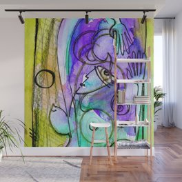 Abstract Nude Goddess No. 40C by Kathy Morton Stanion Wall Mural