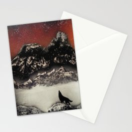The Wolf and the Snow Stationery Cards