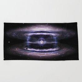 Galactic guts Beach Towel